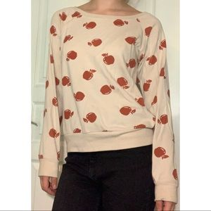 Apple Decorated Sweatshirt